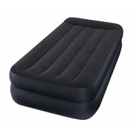 Materasso gonfiabile elettrico a 1 piazza Intex Rest Bed Fiber-Tech