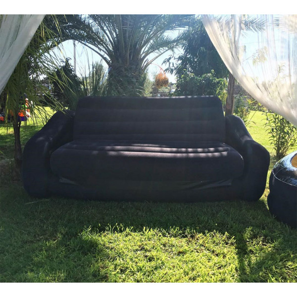 Canapé gonflable convertible 2 places Intex Noir