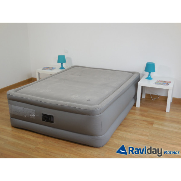 Lit gonflable électrique 2 personnes Intex Foam Top Bed Fiber-Tech