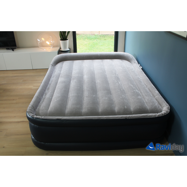Materasso Gonfiabile Elettrico.Materasso Gonfiabile Elettrico A 2 Piazze Intex Rest Bed Deluxe Fiber Tech