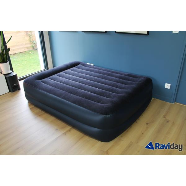 Materasso Gonfiabile Elettrico.Materasso Gonfiabile Elettrico A 2 Piazze Intex Rest Bed Fiber Tech