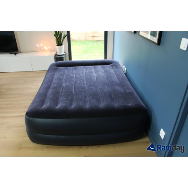 Letto Gonfiabile Intex.Materasso Gonfiabile Elettrico A 2 Piazze Intex Rest Bed Fiber Tech
